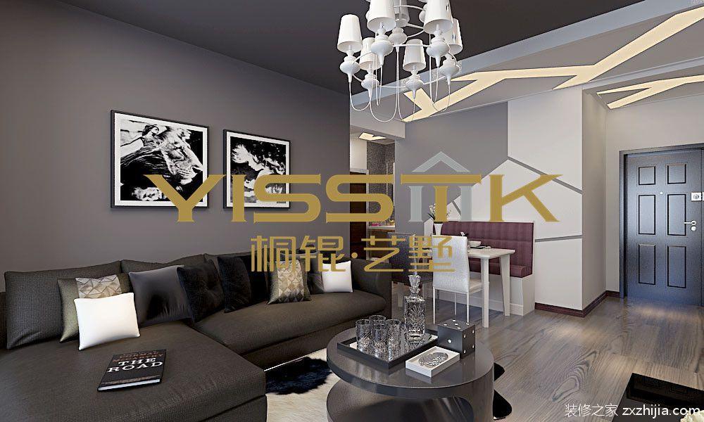 香醍雅诺60平二室一厅现代简约装修效果图