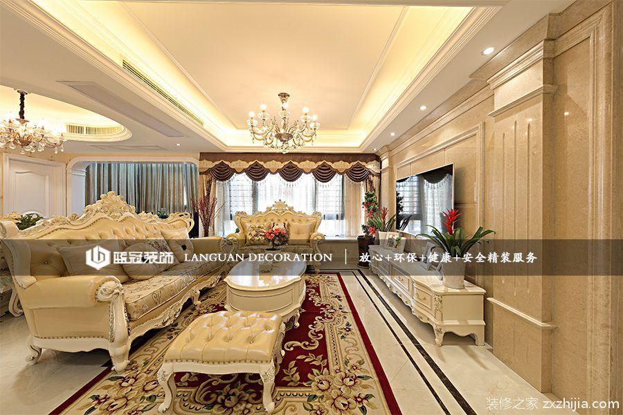 龙湖名景台136平四室二厅简欧装修效果图