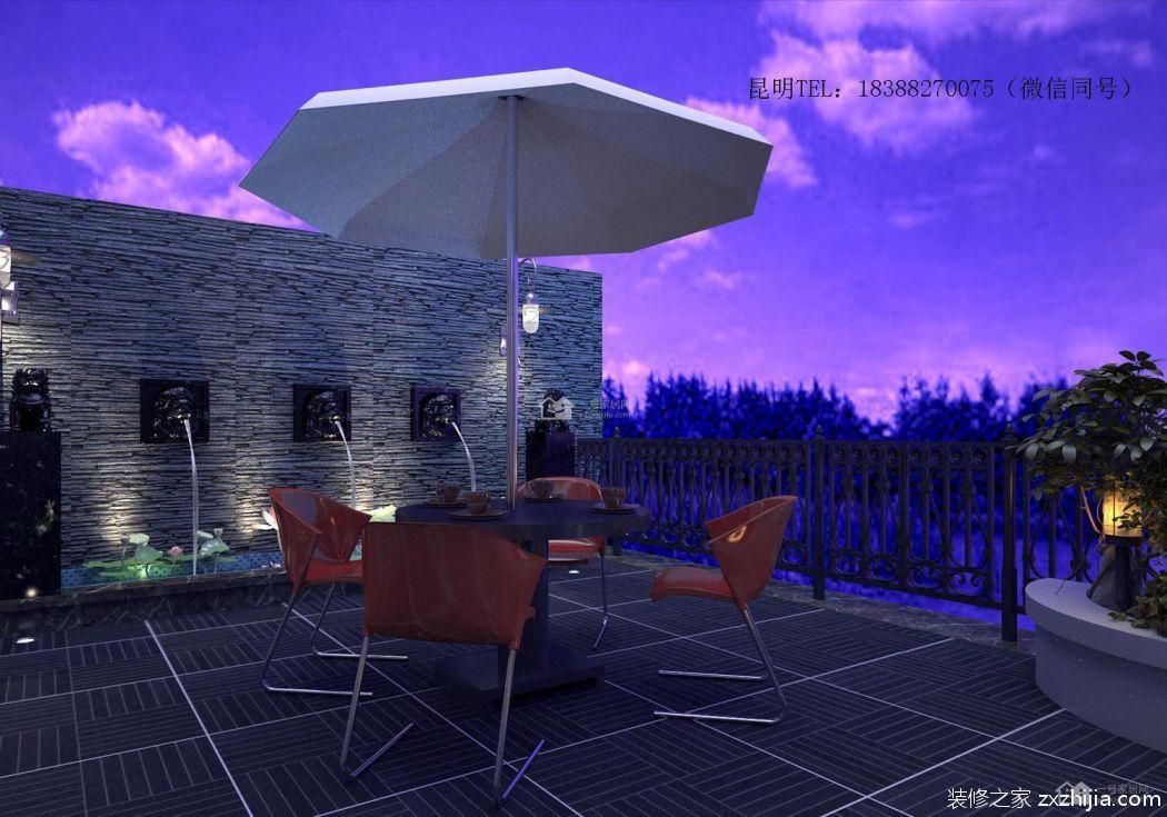 滇池ONE350平四室五厅美式装修效果图