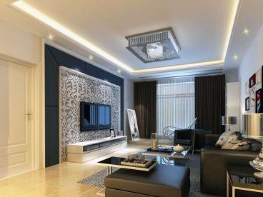 中天嘉园92平二室二厅时尚混搭装修效果图