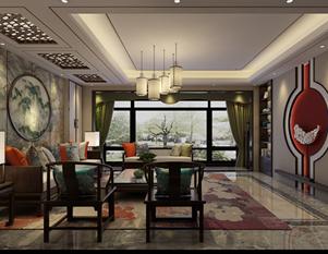 太阳世家166平四室二厅新中式装修效果图