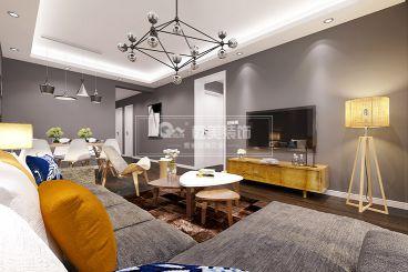 紫东苑80平三室二厅时尚混搭装修效果图