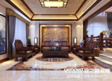 中海铂宫600平新中式风格装修效果图