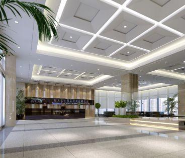 建筑大厦3000平现代简约装修效果图