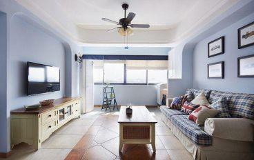 沿海赛洛城89平二室二厅地中海装修效果图