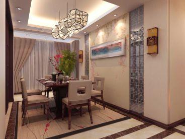 御源林城127平三室二厅新中式装修效果图