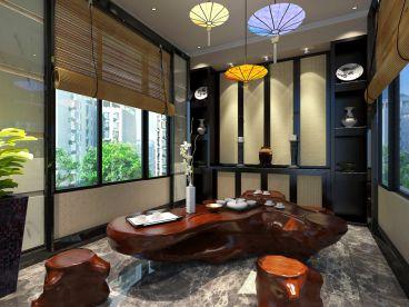别墅区328平五室三厅新中式装修效果图