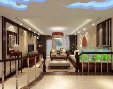 水榭花都140平三室二厅新中式装修效果图