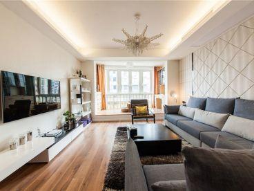孔雀城160平三室一厅现代简约装修效果图