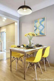 85平二室二厅时尚混搭风格装修效果图
