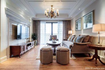 111平三室二厅美式装修效果图
