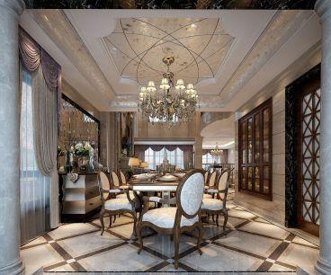 金科王府400平五室三厅简欧装修效果图