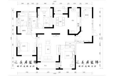 景亿山庄165平四室二厅美式装修效果图