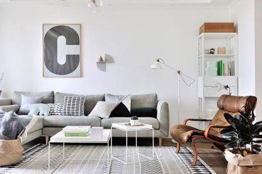 120平住宅二室二厅简欧风格装修效果图