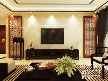 翰香苑190平三室二厅新中式装修效果图
