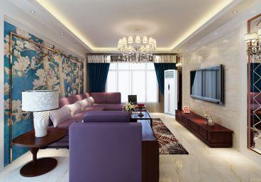 中天嘉园136平三室二厅新中式装修效果图