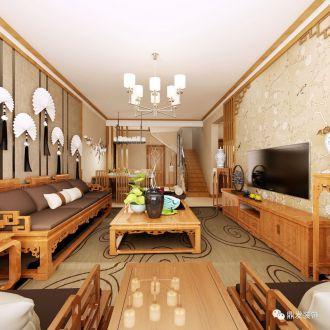 阳光一百200平二室二厅新中式装修效果图