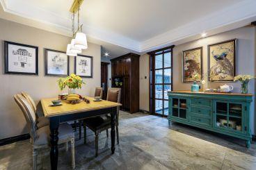 远洋香奈110平三室一厅新古典装修效果图