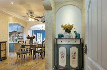 湘江世纪城70平二室二厅地中海装修效果图