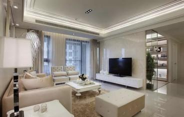 珠江花城89平二室一厅简欧装修效果图