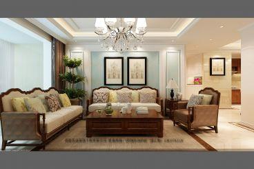 锦泉苑136平三室二厅时尚混搭装修效果图