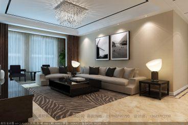 山水华府130平三室二厅现代简约装修案例