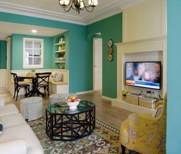 曲江龙邸90平二室一厅美式装修效果图