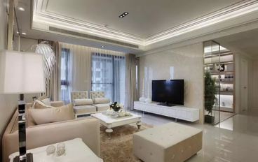 珠江花城89平二室一厅欧式古典装修效果图