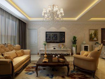 澳海澜苑135平三室二厅现代简约装修案例