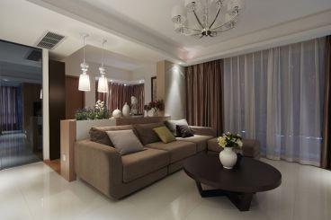 凤栖苑80平二室一厅现代简约装修效果图