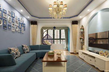 住总万科橙136平三室二厅地中海装修案例