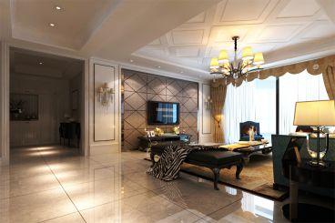 银河怡海280平三室二厅简欧装修效果图