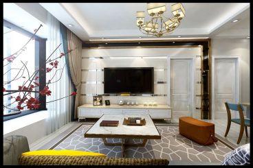 泽天下119平三室二厅现代简约装修效果图
