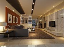 宝丰紫金城150平三室二厅简欧装修效果图
