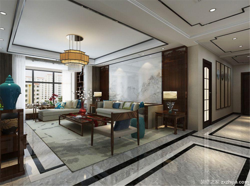 大都会新中式二室一厅装修效果图