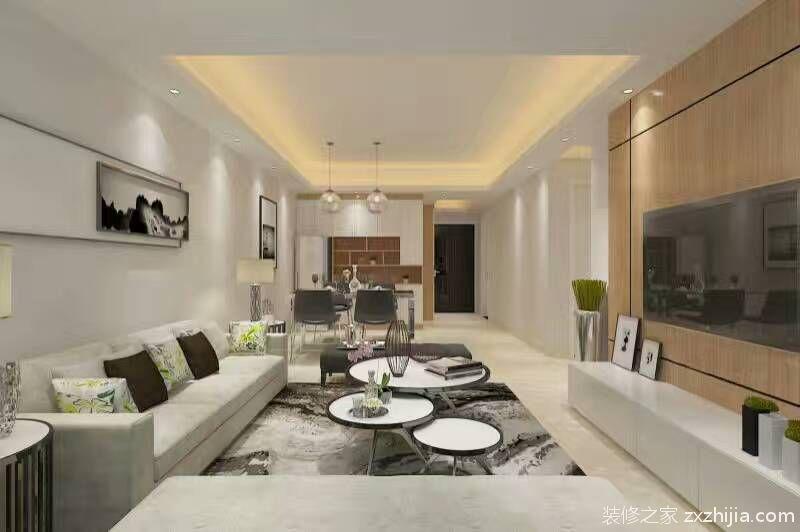 幸福家园三室二厅现代简约装修效果图