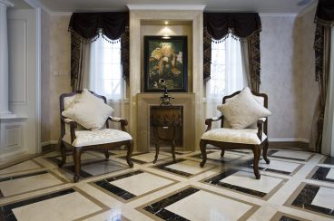 欣欣家园91平一室二厅新中式装修效果图