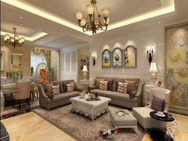 华龙太乙城160平三室二厅混搭风格效果图