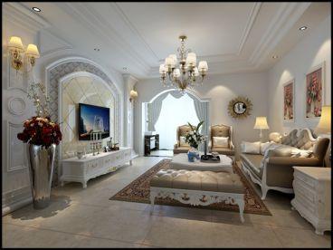 经世皇城135平三室一厅欧式古典装修案例
