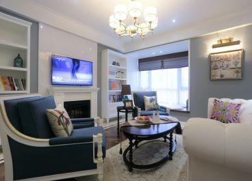 汇景家园110平三室一厅美式装修效果图