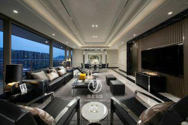 时代水岸160平四室二厅后现代装修效果图