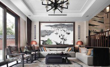 万科里金域国际140平四室二厅新中式装修