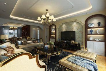 远大美域三室二厅美式装修效果图