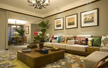 红杉树四室三厅新中式装修效果图
