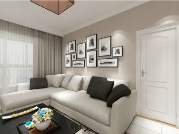 保利香槟国际现代简约三室一厅装修效果图