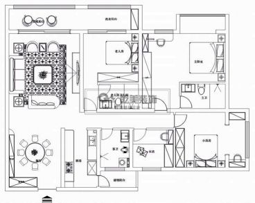融城·昆明湖178平全包装修效果图