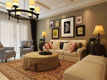 中海华山珑城美式二室二厅装修效果图