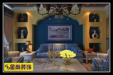 绿地城三室一厅地中海装修效果图
