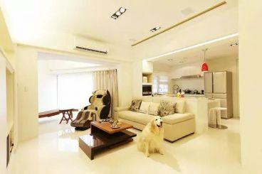 倚能金河家园二室二厅95平装修效果图