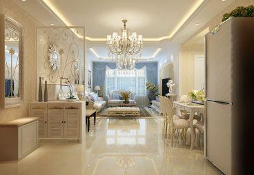 富腾东南天下现代简约二室二厅装修效果图